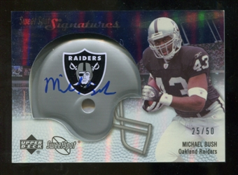 2007 Upper Deck Sweet Spot Signatures Silver #BU Michael Bush /50