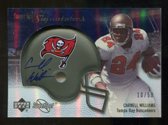 2007 Upper Deck Sweet Spot Signatures Silver 50 #CW Cadillac Williams Autograph /50