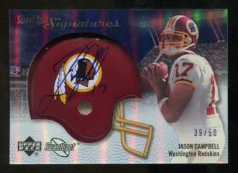 2007 Upper Deck Sweet Spot Signatures Silver #JC Jason Campbell /50
