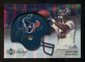 2007 Upper Deck Sweet Spot Signatures Silver 50 #JJ Jacoby Jones Autograph /50