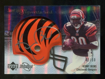 2007 Upper Deck Sweet Spot Signatures Silver #KI Kenny Irons /50