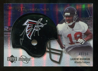 2007 Upper Deck Sweet Spot Signatures Silver #LR Laurent Robinson /50