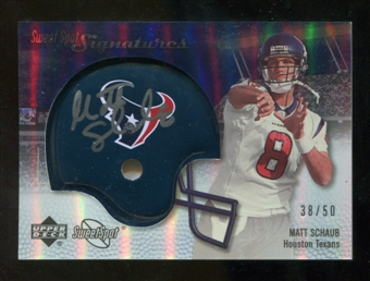 2007 Upper Deck Sweet Spot Signatures Silver #MS Matt Schaub /50