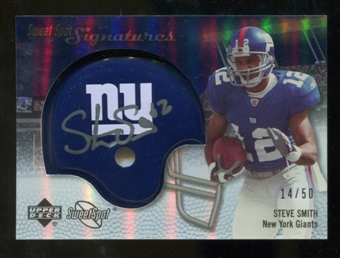 2007 Upper Deck Sweet Spot Signatures Silver 50 #SS Steve Smith USC Autograph /50