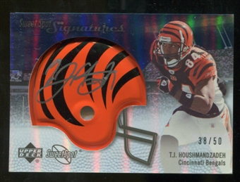 2007 Upper Deck Sweet Spot Signatures Silver #TH T.J. Houshmandzadeh /50