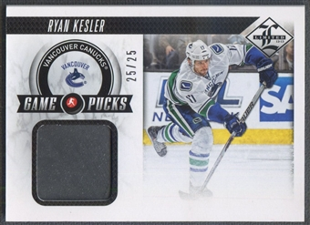2012/13 Limited #GPRK Ryan Kesler Game Puck #25/25