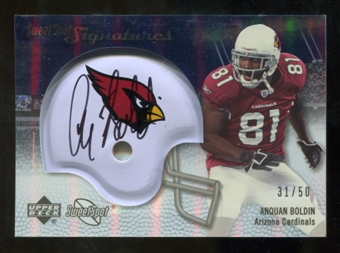 2007 Upper Deck Sweet Spot Signatures Silver #AB Anquan Boldin /50