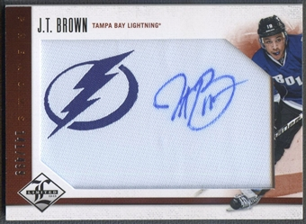 2012/13 Limited #202 J.T. Brown Rookie Jersey Auto #141/499