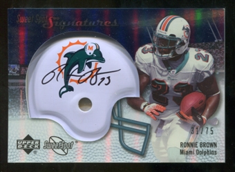 2007 Upper Deck Sweet Spot Signatures Silver 75 #BR Ronnie Brown Autograph /75