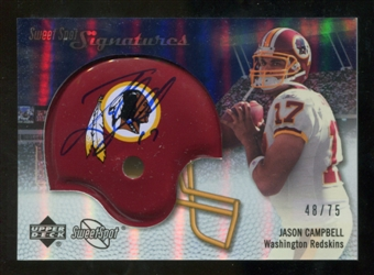 2007 Upper Deck Sweet Spot Signatures Silver 75 #JC Jason Campbell Autograph /75