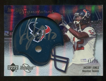 2007 Upper Deck Sweet Spot Signatures Silver #JJ Jacoby Jones /75