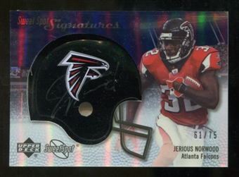 2007 Upper Deck Sweet Spot Signatures Silver #JN Jerious Norwood /75