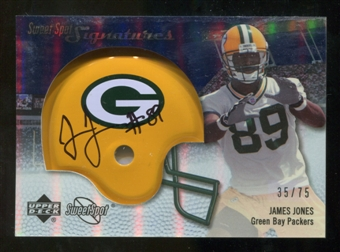 2007 Upper Deck Sweet Spot Signatures Silver #JO James Jones /75