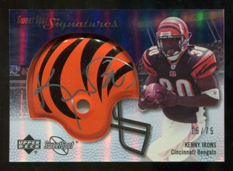 2007 Upper Deck Sweet Spot Signatures Silver #KI Kenny Irons /75