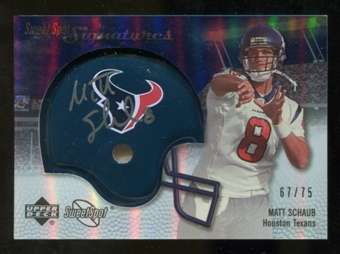 2007 Upper Deck Sweet Spot Signatures Silver #MS Matt Schaub /75