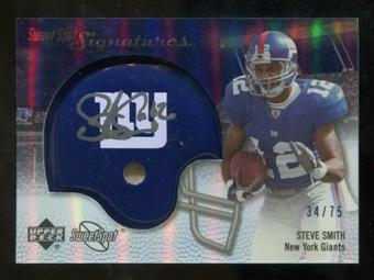 2007 Upper Deck Sweet Spot Signatures Silver 75 #SS Steve Smith USC Autograph /75