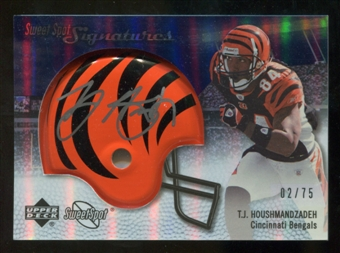 2007 Upper Deck Sweet Spot Signatures Silver 75 #TH T.J. Houshmandzadeh Autograph /75
