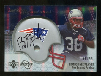 2007 Upper Deck Sweet Spot Signatures Silver #BM Brandon Meriweather /99