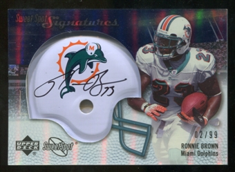 2007 Upper Deck Sweet Spot Signatures Silver #BR Ronnie Brown /99