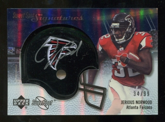 2007 Upper Deck Sweet Spot Signatures Silver #JN Jerious Norwood /99