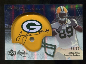 2007 Upper Deck Sweet Spot Signatures Silver #JO James Jones /99