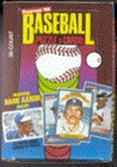 1986 Donruss Baseball Wax Box
