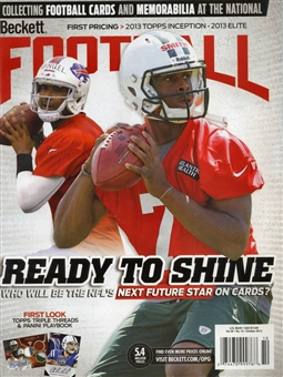 2013 Beckett Football Monthly Price Guide (#273 October) (Rookie QB's)