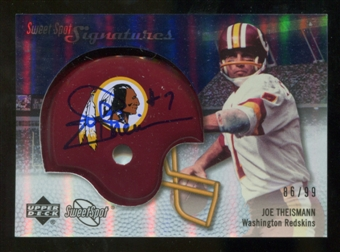 2007 Upper Deck Sweet Spot Signatures Silver 99 #TN Joe Theismann Autograph /99