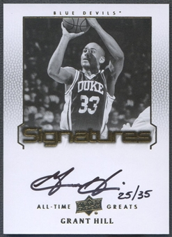 2013 Upper Deck All-Time Greats #ATGGH4 Grant Hill Signatures Auto #25/35