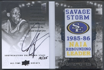 2013 Upper Deck All-Time Greats #BSRO Dennis Rodman Banner Season Patch Auto #18/25