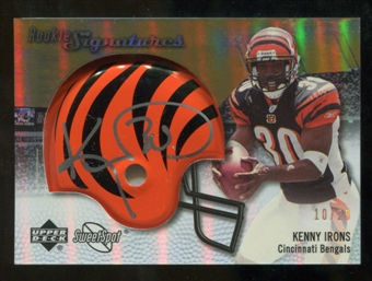 2007 Upper Deck Sweet Spot Rookie Signatures Gold #108 Kenny Irons /29