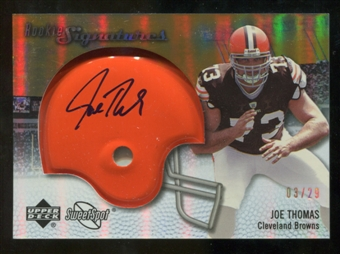 2007 Upper Deck Sweet Spot Rookie Signatures Gold 29 #109 Joe Thomas Autograph /29