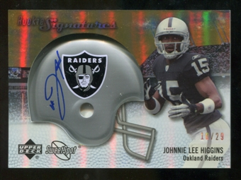 2007 Upper Deck Sweet Spot Rookie Signatures Gold #120 Johnnie Lee Higgins /29