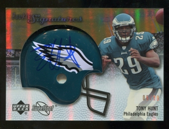 2007 Upper Deck Sweet Spot Rookie Signatures Gold #121 Tony Hunt /29