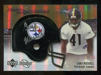 2007 Upper Deck Sweet Spot Rookie Signatures Gold #122 Gary Russell /29