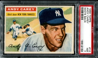 1956 Topps Baseball #12 Andy Carey PSA 7 (NM) *2158