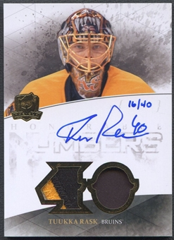 2010/11 The Cup #HNTR Tuukka Rask Honorable Numbers Patch Auto #16/40