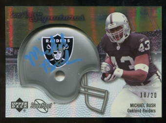 2007 Upper Deck Sweet Spot Signatures Gold #BU Michael Bush /20
