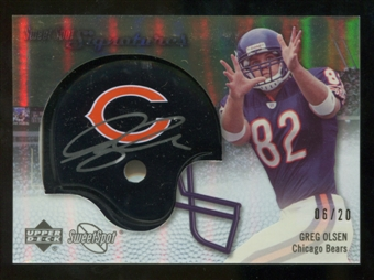 2007 Upper Deck Sweet Spot Signatures Gold #GO Greg Olsen /20