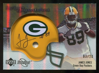 2007 Upper Deck Sweet Spot Signatures Gold 20 #JO James Jones Autograph /20
