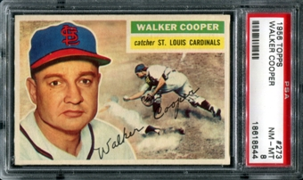 1956 Topps Baseball #273 Walker Cooper PSA 8 (NM-MT) *8544