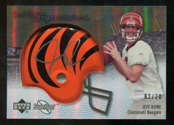 2007 Upper Deck Sweet Spot Signatures Gold #RO Jeff Rowe /20