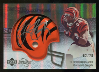 2007 Upper Deck Sweet Spot Signatures Gold 20 #TH T.J. Houshmandzadeh Autograph /20