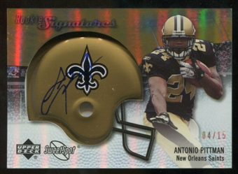 2007 Upper Deck Sweet Spot Rookie Signatures Gold 15 #116 Antonio Pittman Autograph /15