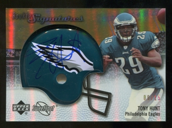 2007 Upper Deck Sweet Spot Rookie Signatures Gold 15 #121 Tony Hunt Autograph /15