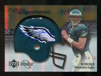 2007 Upper Deck Sweet Spot Rookie Signatures Gold #142 Kevin Kolb /15