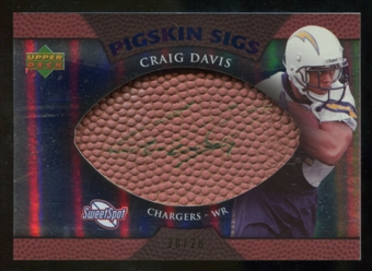 2007 Upper Deck Sweet Spot Pigskin Signatures Blue #CD Craig Buster Davis /20