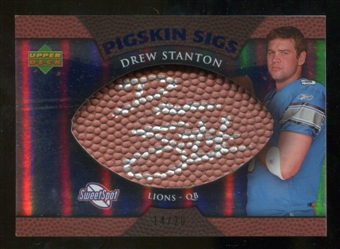 2007 Upper Deck Sweet Spot Pigskin Signatures Blue #DS Drew Stanton /20