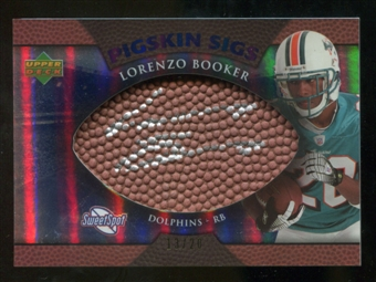 2007 Upper Deck Sweet Spot Pigskin Signatures Blue #LB Lorenzo Booker /20