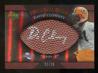 2007 Upper Deck Sweet Spot Pigskin Signatures Bronze #DC David Clowney /25